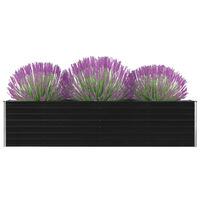 vidaXL Vyvýšený záhradný kvetináč antracitový 320x40x77 cm pozinkovaná oceľ