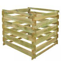 vidaXL Kompostér z latiek 0,54 m3, štvorcový, drevo
