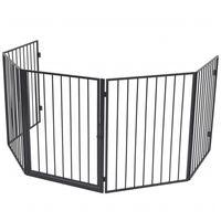 vidaXL plot pred krb z ocele čierny