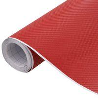 vidaXL Fólia na automobily matná 4D červená 500x152 cm