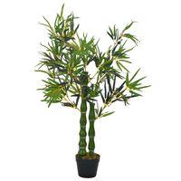 vidaXL Umelá rastlina, bambus s kvetináčom, zelená 110 cm