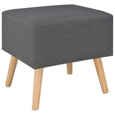 vidaXL Nočný stolík tmavosivý 40x35x40 cm látkový