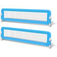 vidaXL Detská bezpečnostná zábrana na postieľku 2 ks modrá 150x42 cm