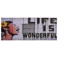 vidaXL Sada nástenných obrazov na plátne Wonderful rôznofarebná 150x60 cm