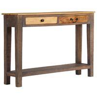 vidaXL Konzolový stolík masívne drevo vintage štýl 118x30x80 cm