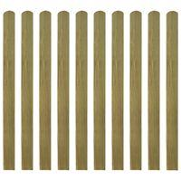 vidaXL Impregnované plotové dosky 20 ks, drevo 120 cm