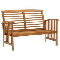vidaXL Záhradná lavička 119 cm, akáciový masív
