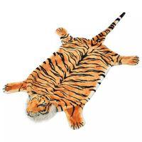 vidaXL Koberec v tvare tigra, plyšový 144 cm, hnedý