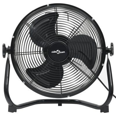 vidaXL Podlahový ventilátor 3 rýchlosti 60 cm 120 W čierny