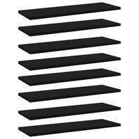 vidaXL Prídavné police 8 ks, čierne 60x20x1,5 cm, drevotrieska