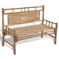 vidaXL Záhradná lavička 120 cm, bambus