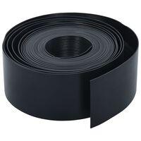 vidaXL Záhradný obrubník čierny 10 m 10 cm PE