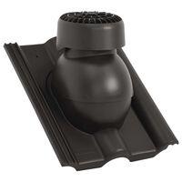 vidaXL Strešný ventilátor čierny
