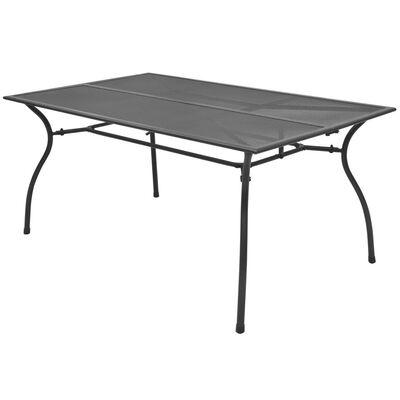 vidaXL Záhradný stôl 150x90x72 cm, oceľová sieťovina