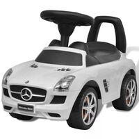 Biele Mercedes Benz detské autíčko na nožný pohon