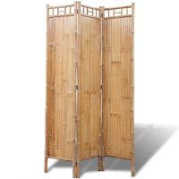 vidaXL 5-panelový paraván z bambusu 200 x 160 cm