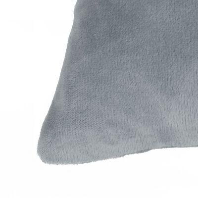vidaXL Sada zamatových dekoratívnych vankúšov, 2 ks, 45x45 cm, sivá