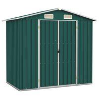 vidaXL Záhradná kôlňa zelená 205x129x183 cm pozinkovaná oceľ