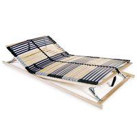 vidaXL Lamelový posteľný rošt so 42 lamelami a 7 zónami 120x200 cm