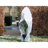 Nature Zimný flísový kryt so zipsom 70 g/m², biely 2,5x2,5x3 m