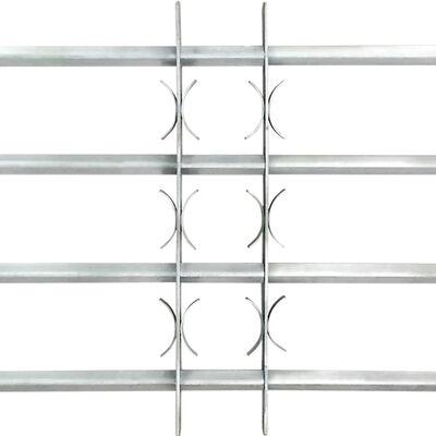 Nastaviteľná bezpečnostná okenná mreža so 4 priečkami 700-1050 mm