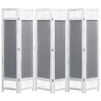 vidaXL 6-panelový paraván sivý 210x165 cm látkový