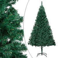 vidaXL Umelý vianočný stromček s hustým ihličím zelený 120 cm PVC