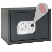 vidaXL Digitálny trezor s odtlačkom prsta tmavosivý 35x25x25 cm