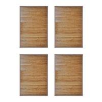 vidaXL Bambusová predložka do kúpeľne 4 ks 60x90 cm hnedá