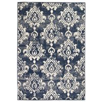 vidaXL Moderný koberec, paisley dizajn, 140x200 cm, béžovo-modrý