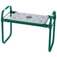 Draper Tools Záhradná stolička s kľakadlom železná zelená 64970