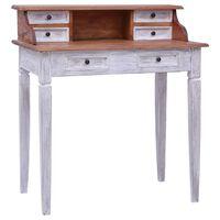 vidaXL Písací stôl so zásuvkami 90x50x101 cm, recyklovaný masív