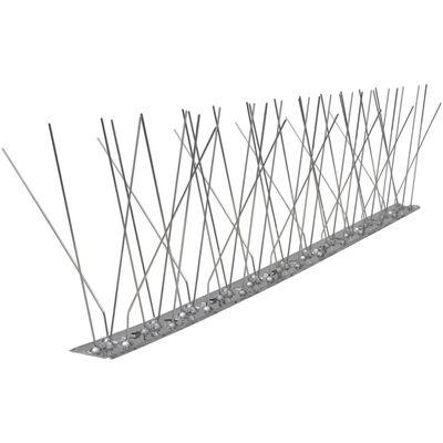 vidaXL Hroty proti vtákom, nehrdzavejúca oceľ, 5 radov, sada 6 ks 3 m