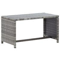 vidaXL Konferenčný stolík antracitový 70x40x38 cm polyratan