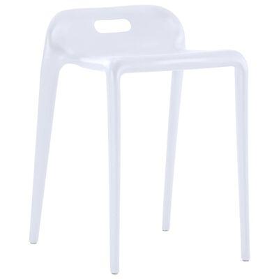vidaXL Stohovateľné stoličky 4 ks biele plastové