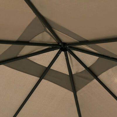 vidaXL Altánok 3x3x2,6 m sivohnedý 160 g/m²