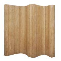 vidaXL Paraván z bambusu, prírodný, 250x165 cm