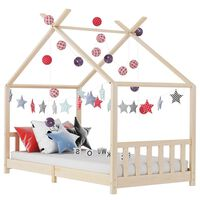 vidaXL Kids Bed Frame Solid Pine Wood 90x200 cm