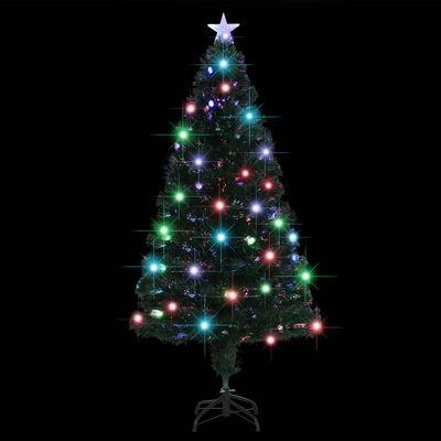 vidaXL Umelý vianočný stromček s podstavcom a LED 150 cm 170 vetvičiek