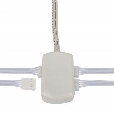 4 ks okrúhlych LED lámp na kuchynskú linku (RGB + diaľkový ovládač)