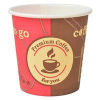 vidaXL 1000 ks Jednorazové poháre na kávu papierové 120 ml (4 oz)