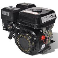 Benzínový motor 6,5 HP 4,8 kW, čierny