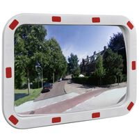Konvexné dopravné zrkadlo, obdĺžnik 40x60 cm, s odrazkami