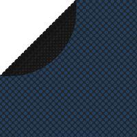 vidaXL Plávajúca solárna bazénová fólia z PE 381 cm čierna a modrá