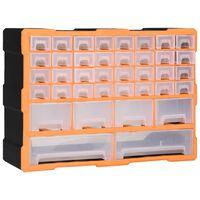 vidaXL Organizér so 40 zásuvkami 52x16x37,5 cm