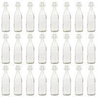 vidaXL Sklenené fľaše s pákovým uzáverom 24 ks 1 L