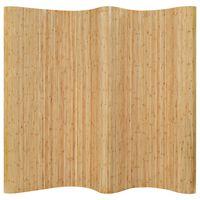 vidaXL Paraván z bambusu 250x165 cm, prírodný