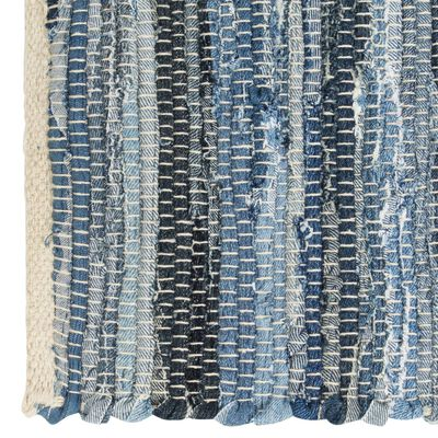 vidaXL Prestierania 4 ks chindi rifľovo-modré 30x45 cm bavlnené