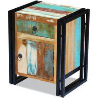 vidaXL Nočný stolík, recyklovaný masív