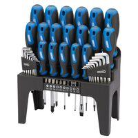 Draper Tools 44-dielna sada skrutkovačov, šesťhranných kľúčov a bitov modrá